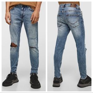 NWT. Zara Man Skinny Cropped Jeans. Size 30, 34.